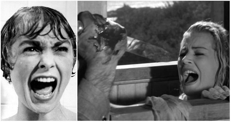 Shocking shower scenes shot before 'Psycho'