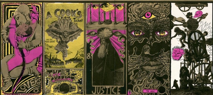 Martin Sharp's psychedelic tarot cards from 1967