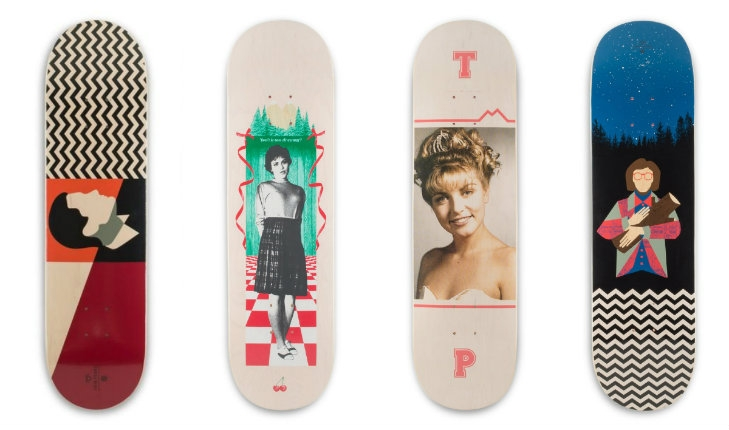 Badass 'Twin Peaks' skateboard decks
