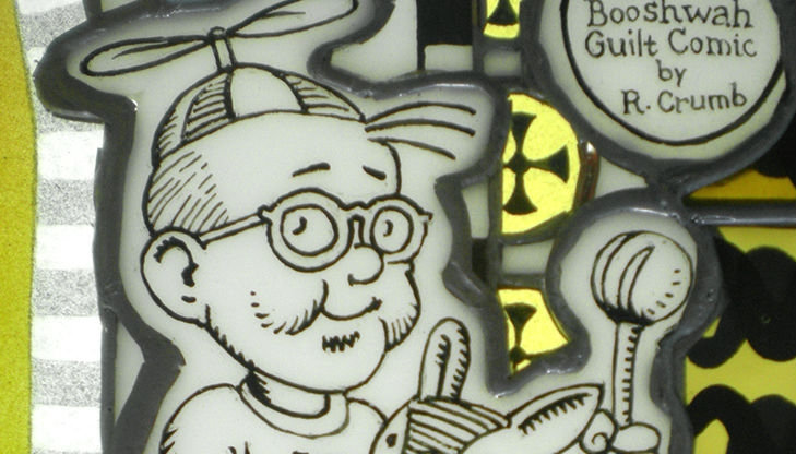 Stained-glass windows of R. Crumb's comics