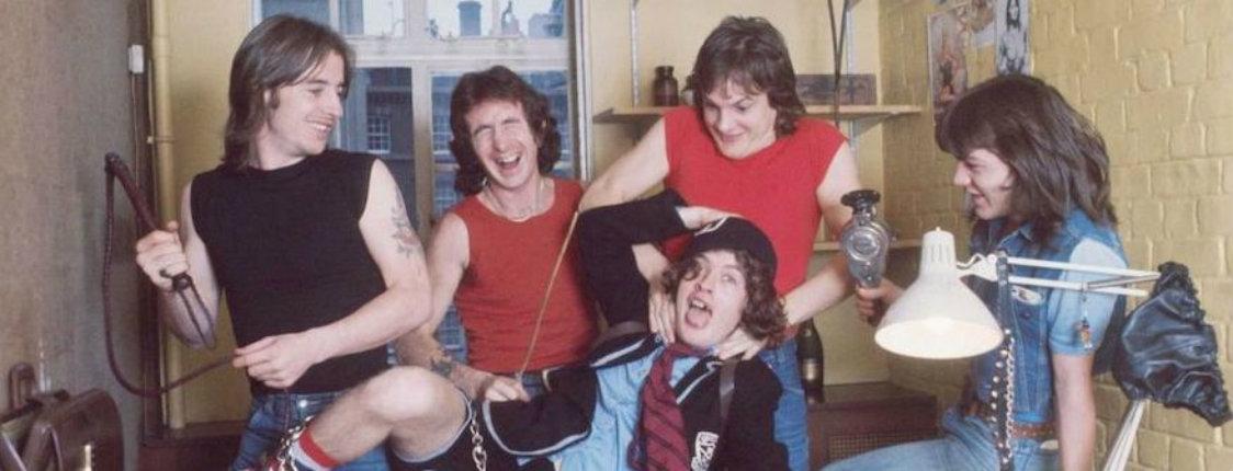 Raw footage of AC/DC killing it at an Australian high school 40 years ago (& Bon Scott's bagpipes!)