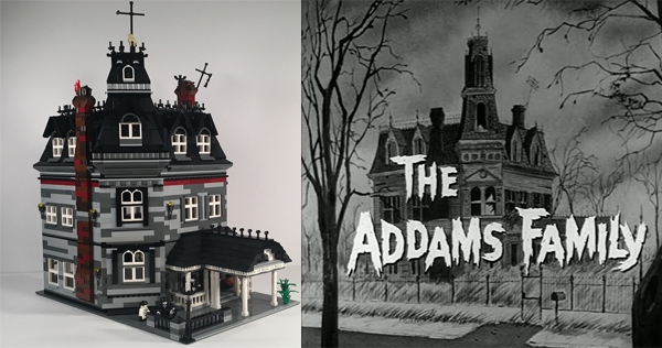 'Addams Family' fan creates 3,000-piece LEGO Addams' Mansion