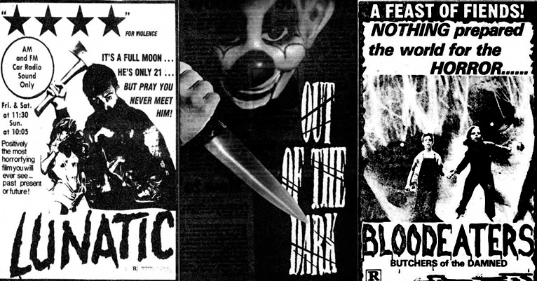 Fangoria editor's amazing collection of classic trash horror film ads