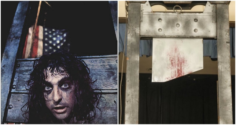 Love it to death: Alice Cooper's original guillotine 'headed' to auction