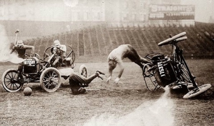 Beyond Thunderdome: Vintage images of the death-defying sport known as 'Auto Polo'