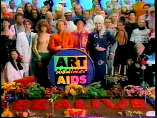 The B-52s and Friends' Art Against AIDS commercial, 1987