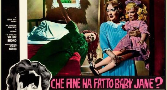 Dig these high-octane Italian lobby cards for 'Whatever Happened to Baby Jane?'