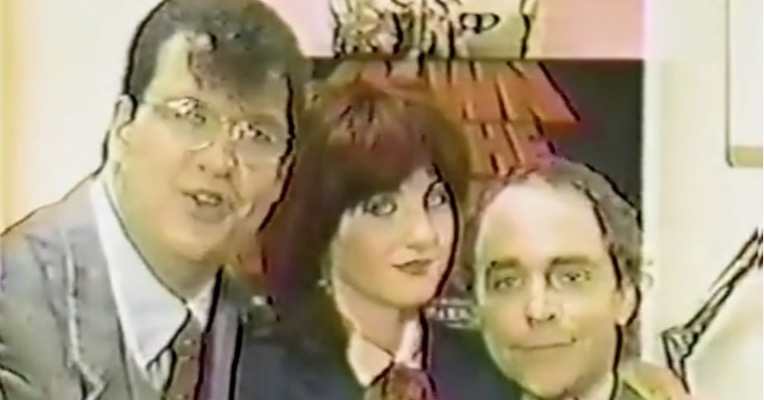 Lydia Lunch and Penn & Teller in 'Barbecue Death Squad from Hell,' directed by Michael Nesmith