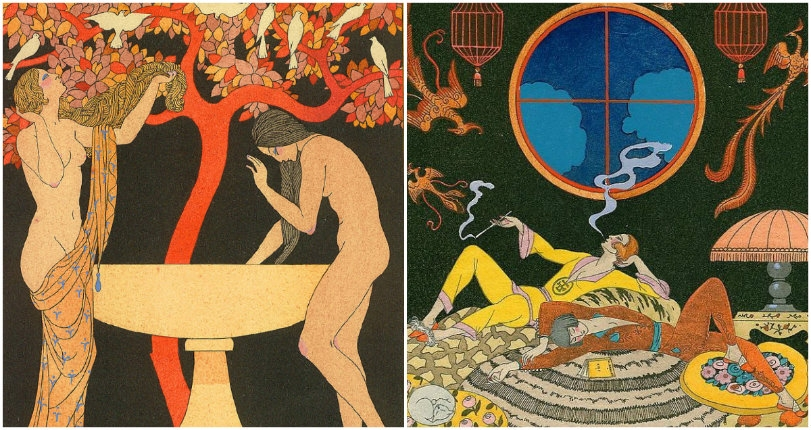 Provocative erotic paintings by the 'Father of the Art Deco Movement' George Barbier