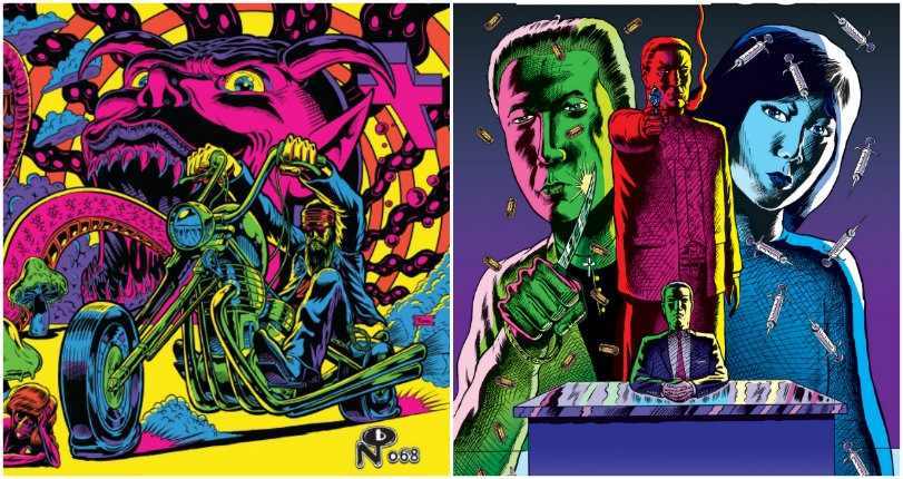 The lurid, neon outlaw art of Benjamin Marra