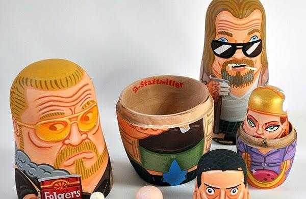 'Big Lebowski' Russian nesting dolls