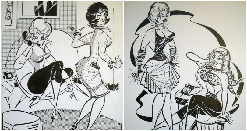 The vampy and voluptuous vintage pinups of 'good girl' illustrator Bill Kresse