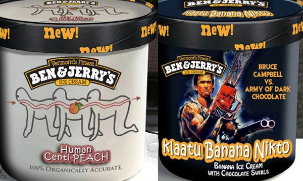 'Human Centi-Peach,' 'Camp Crystal Cake,' and other horror movie-inspired Ben and Jerry's flavors