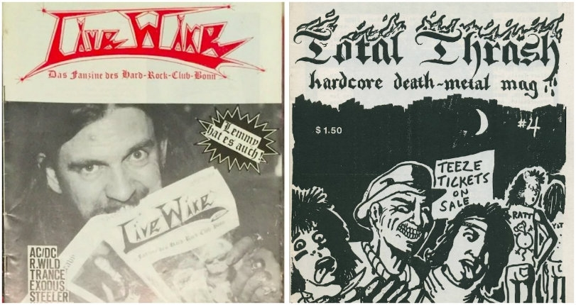 Total Thrash & Whiplash: A sick collection of heavy & black metal fanzines from around the globe