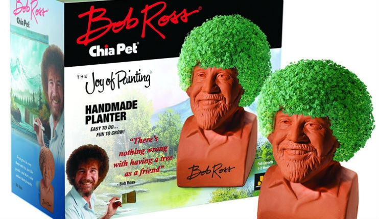 OMG, there's a Bob Ross Chia Pet!