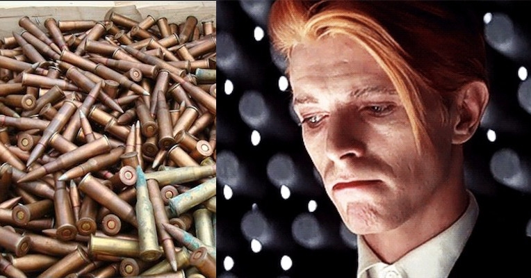 Running Gun Blues: Arms dealer uses David Bowie's image to sell bullets?