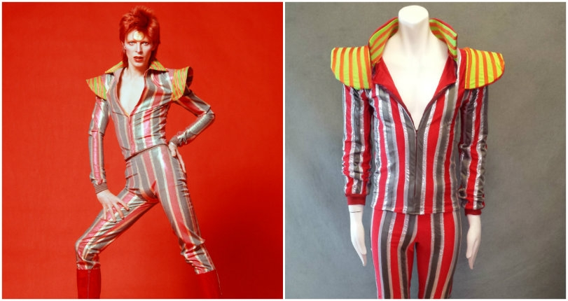Becoming Bowie: High-end made-to-order 'Ziggy Stardust' and 'Aladdin Sane' costumes!