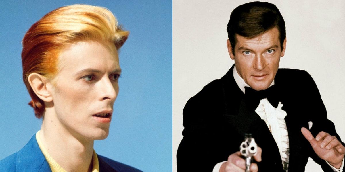 That time David Bowie met Roger Moore & then met him again & again & again & again & again & again