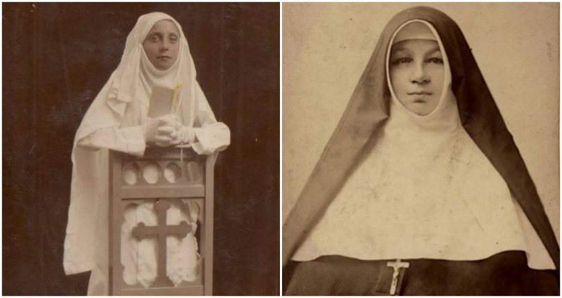 Terrifying nuns looking down their noses at you