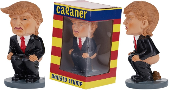 Get your own festive shitting Trump figurine in time for Christmas!
