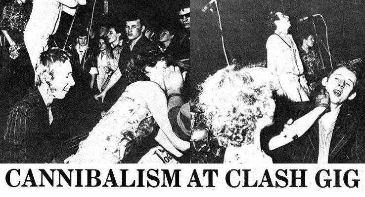 Shane MacGowan perpetrates 'Cannibalism at Clash gig,' 1976