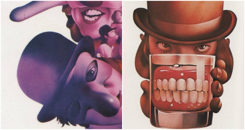 Stunning airbrushed images & other lurid artwork created for 'A Clockwork Orange'