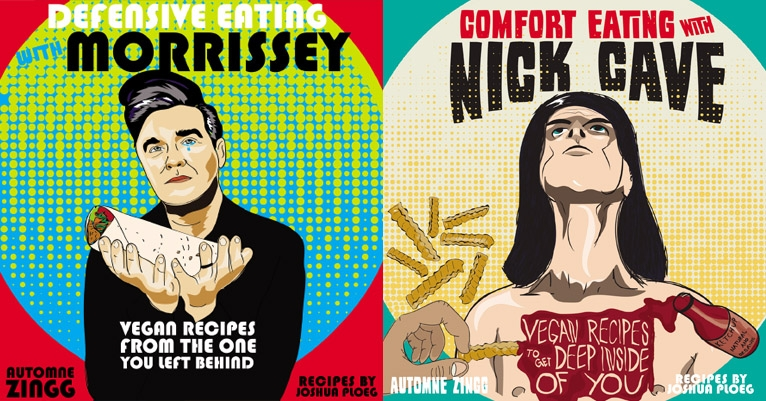 Vegan cookbooks inspired by Nick Cave and Morrissey