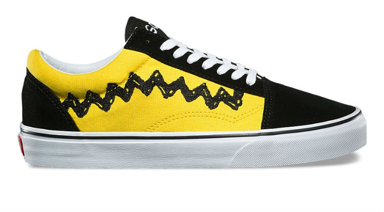 Charlie Brown's shirt now available as a Vans shoe