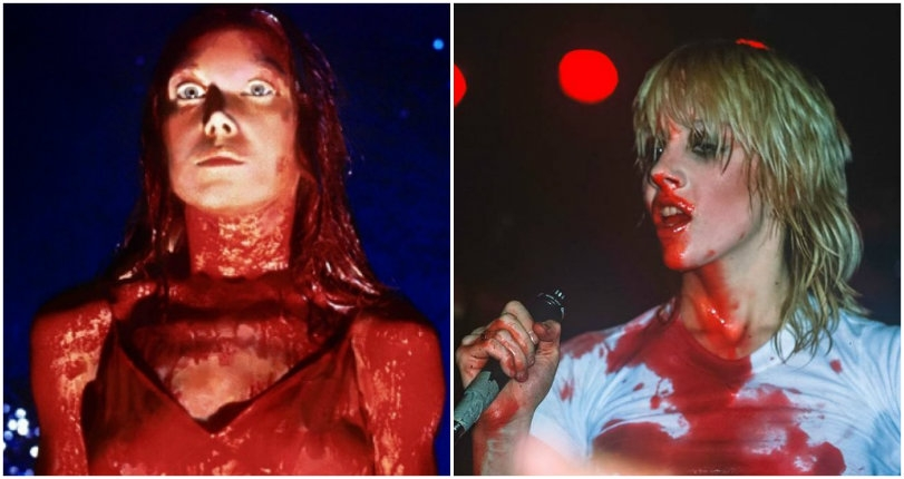 Cherie or Carrie?: Rare photos of Cherie Currie of The Runaways drenched in blood