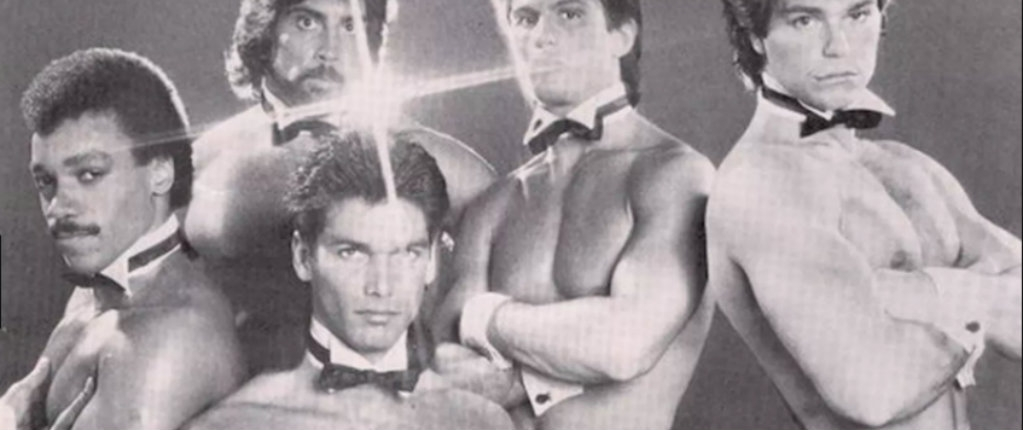 Super cheesy photos of male Chippendales dancers from the 1980s
