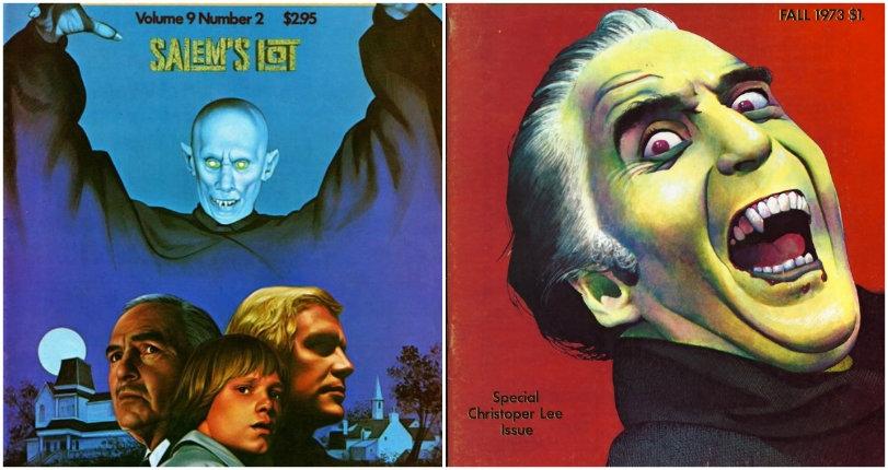 Illustrations of films by Dario Argento, David Cronenberg, Ridley Scott & more from Cinefantastique