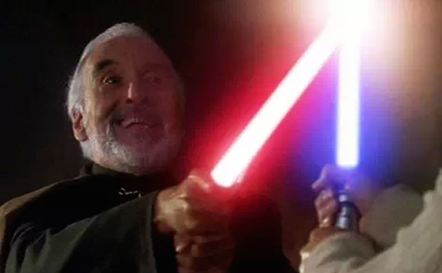 Christopher Lee's swordfighting tutorial