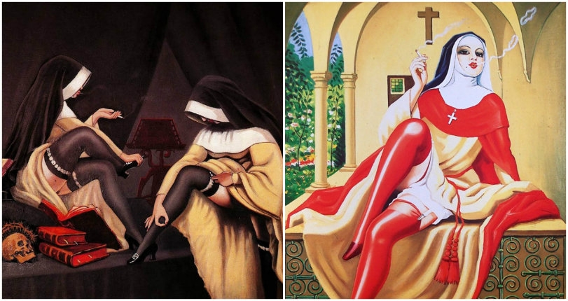 Naughty nuns, Nosferatu and BDSM: Surreal works by the master of 'anything goes' Clovis Trouille
