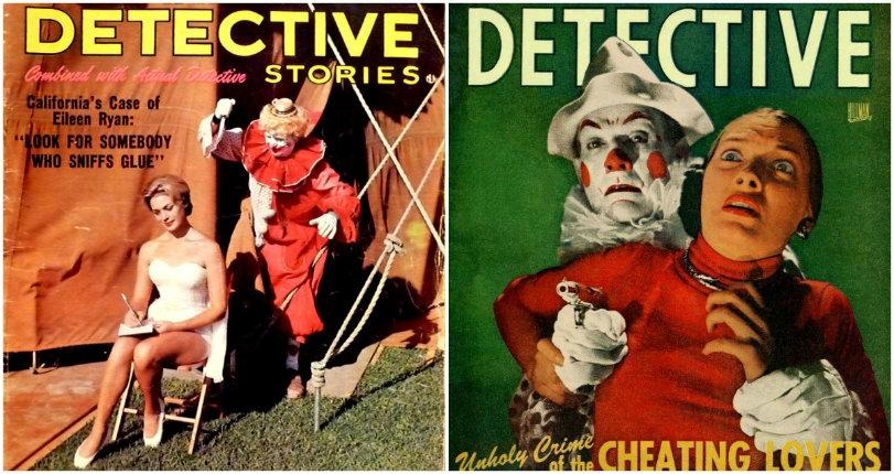 Killer clowns: Kooky pulp novels & magazines featuring gun-toting, knife-wielding circus clowns