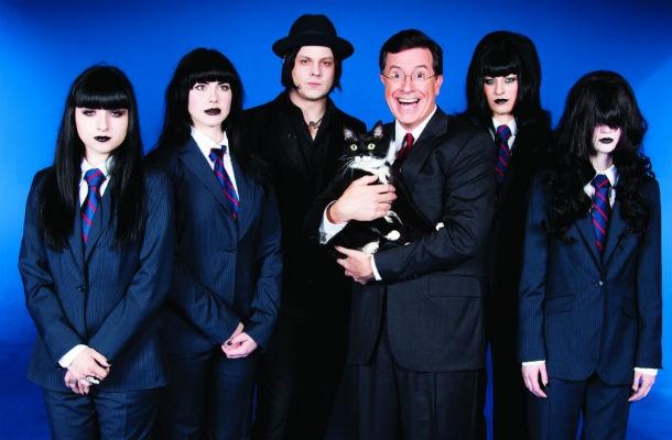 Tangled up in Blue: When Stephen Colbert met Jack White