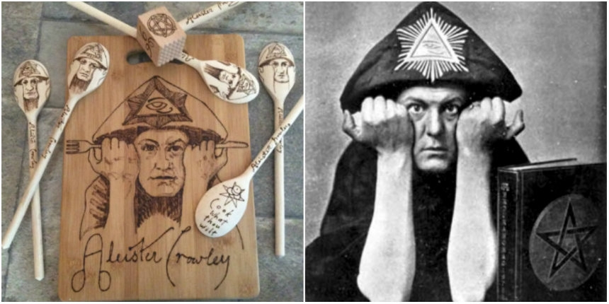 'Cook What Thou Wilt' with these Aleister Crowley-themed kitchen utensils