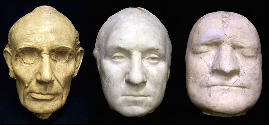 Death masks of famous people in history