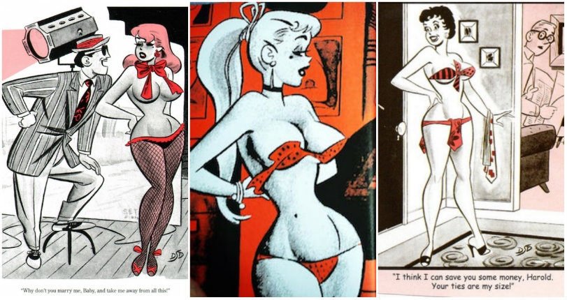 Naughty, sexy vintage 50s cartoons from 'Josie and the Pussycats' creator