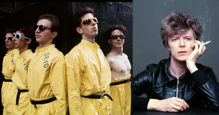 Mark Mothersbaugh says that tapes of DEVO jamming with David Bowie and Brian Eno have surfaced