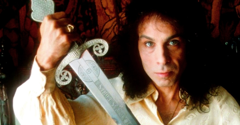 A beam in the shade from a silvery blade: Own Ronnie James Dio's sword collection