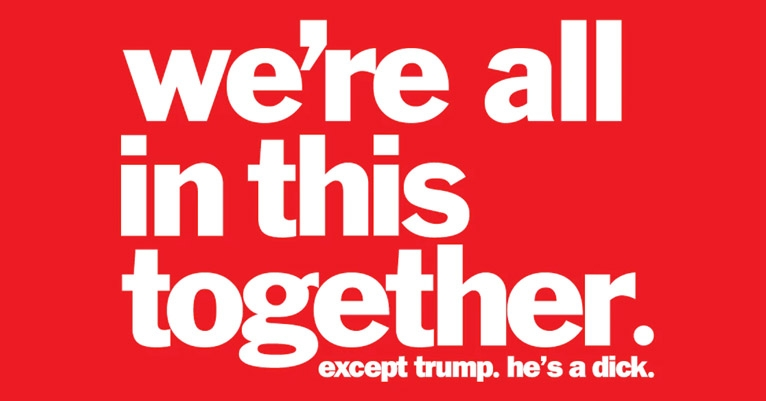 We're all in this together: Classic Chunklet t-shirt updated for the Trump era