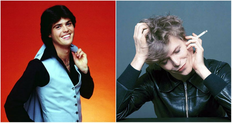 Intergalactic pimp: Donny Osmond dresses as 'David Bowie' and covers 'Fame' in 1976