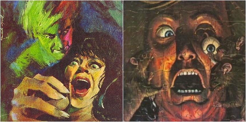 The technicolor covers of Spanish horror magazine Dossier Negro