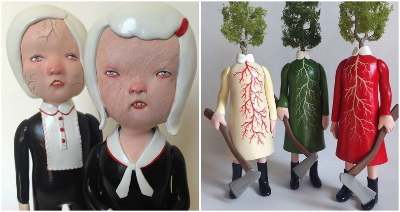 The subversive sculptures of husband and wife artist team Doubleparlour