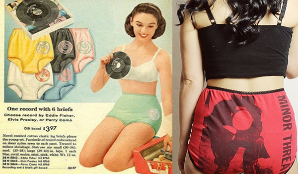 Elvis Presley, Perry Como… Minor Threat? Granny panties, now for hipsters!