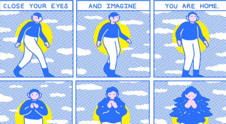 Meditate, breathe: These comics bring a much-needed moment of peace to our stressful, chaotic world