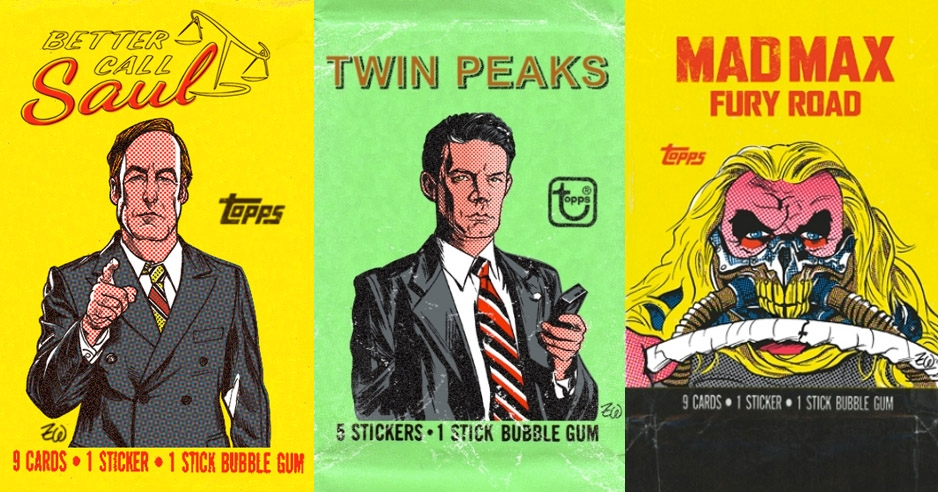 'Twin Peaks,' 'Better Call Saul,' 'Mad Max,' & more as '70s-style Topps trading card wrappers