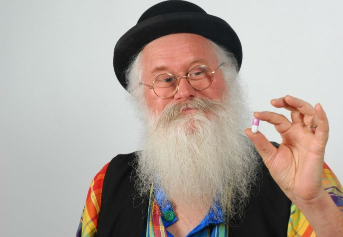 This zany old French guy wants to sell you pills that make your farts smell like roses or chocolate!