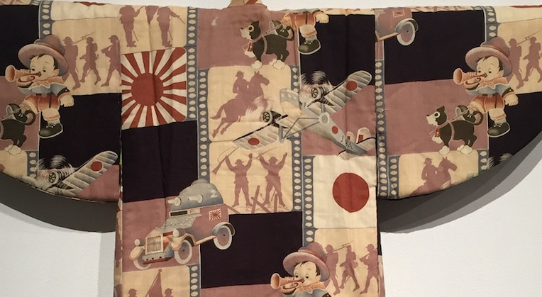 Political 'propaganda kimonos' from pre-World War II Japan