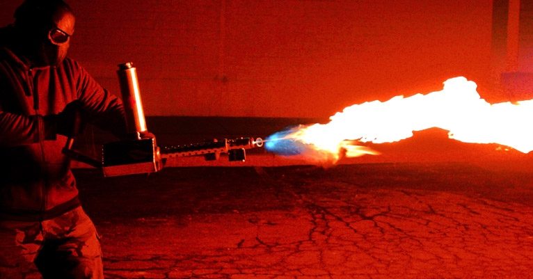 Fireballs of FREEDUMB! Your own personal flamethrower is within reach (and completely legal!)